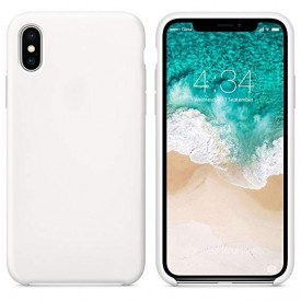 Husa Apple iPhone X, silicon slim antisoc Alb