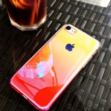 Husa Apple iPhone XS, Gradient Color Cameleon Roz / Pink