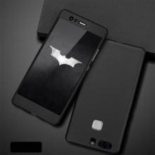 Husa Huawei P10 Lite, FullBody Elegance Luxury Black, acoperire completa 360 grade cu folie de sticla gratis