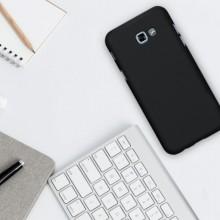 Husa Samsung Galaxy A3 2016, FullBody Elegance Luxury Black, acoperire completa 360 grade cu folie de sticla gratis