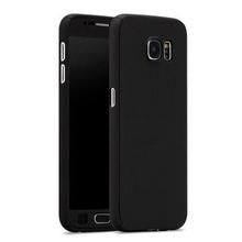 Husa Samsung Galaxy A7 2016, FullBody Elegance Luxury Black, acoperire completa 360 grade cu folie de sticla gratis