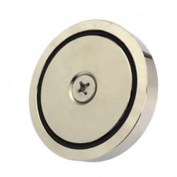 Magnet neodim oală D90 mm cârlig inelar Magnet fishing 320 Kg forta