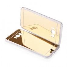 Pachet Husa Elegance Luxury pentru Samsung Galasy S6 Egde Plus TIP OGLINDA AURIE cu folie de protectie gratis !