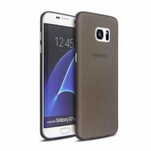 Pachet husa Elegance Luxury slim fumurie pentru Samsung Galaxy S6 Edge cu folie de protectie gratis