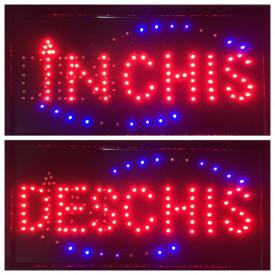 PANOU LED Afisare Deschis - Inchis cu buton pentru schimbare mesaj