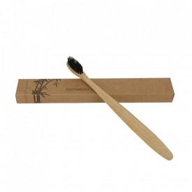 Periuta de dinti din bambus cu ioni carbune activat - curata, detoxifiaza si are efect de albire, 100% Naturala