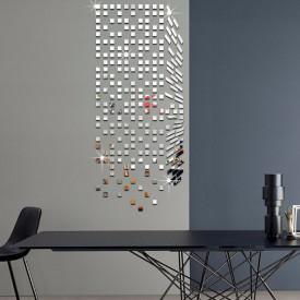 Set Oglinzi Design Patrat 2/2 cm - Decorative Acrilice Silver 1000 buc