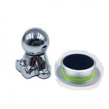 Suport auto magnetic tip omulet de culoare argintie , pentru telefoane mobile, prindere cu adeziv