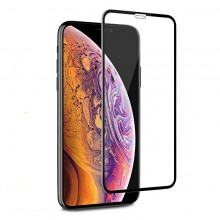 Folie de sticla 6D Apple iPhone XS MAX, margini colorate Negru