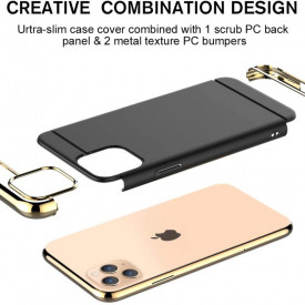 Husa Apple iPhone 11, Elegance Luxury 3in1 Black