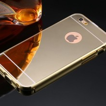 Husa Apple iPhone 5/5S/SE, Elegance Luxury tip oglinda Gold