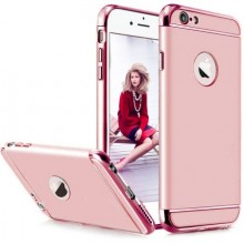 Husa Apple iPhone 6/6S, Elegance Luxury 3in1 Rose-Gold