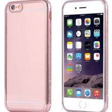 Husa Apple iPhone 6/6S, MyStyle electroplacata cu diamante Rose-Gold