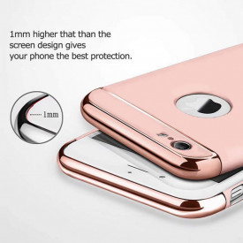 Husa Apple iPhone 7, Elegance Luxury 3in1 Ring Rose-Gold