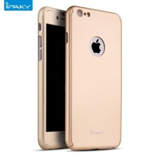 Husa Apple iPhone 7, FullBody Elegance Luxury iPaky Gold , acoperire completa 360 grade cu folie de sticla gratis