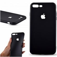 Husa Apple iPhone 7 Plus, Elegance Luxury Black antisoc cu decupaj logo