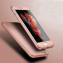 Husa Apple iPhone 7 Plus, FullBody Elegance Luxury iPaky Rose-Gold , acoperire completa 360 grade cu folie de sticla gratis