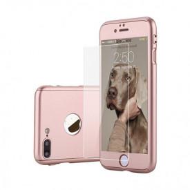 Husa Apple iPhone 7 Plus, FullBody Elegance Luxury Rose-Gold, acoperire completa 360 grade cu folie de sticla gratis