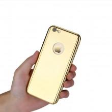 Husa Apple iPhone 8, Elegance Luxury tip oglinda Auriu