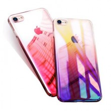Husa Apple iPhone 8, Gradient Color Cameleon Roz / Pink