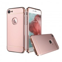 Husa Apple iPhone 8 Plus, Elegance Luxury 3in1 Rose-Gold