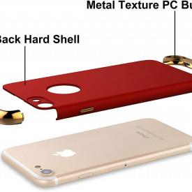 Husa Apple iPhone 8 Plus, Elegance Luxury 3in1 Rosu