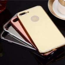 Husa Apple iPhone 8 Plus, Elegance Luxury tip oglinda Rose-Gold