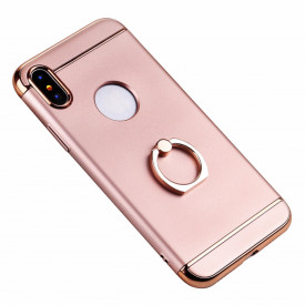 Husa Apple iPhone X, Elegance Luxury 3in1 Ring Rose-Gold