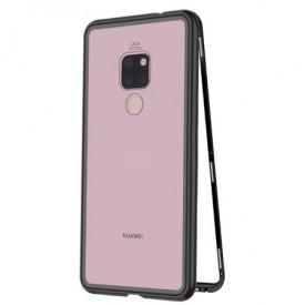Husa Huawei MATE 20 Magnetica Black, Perfect Fit cu spate de sticla securizata premium