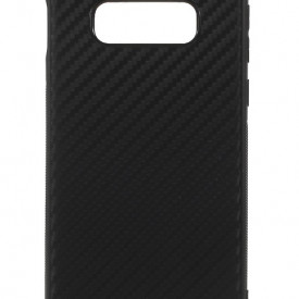 Husa pentru Samsung Galaxy S10, Perfect Fit, cu insertii de carbon, negru