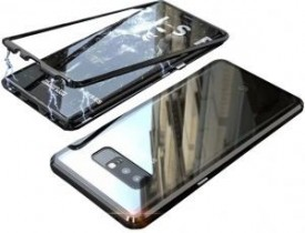 Husa Samsung Galaxy NOTE 8 , Magnetica 360 grade Negru, Perfect Fit cu spate de sticla securizata premium + folie de protectie gratis
