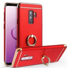 Husa Samsung Galaxy S9, Elegance Luxury 3in1 Ring Red