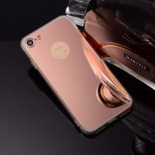 Pachet husa Elegance Luxury Tip Oglinda Rose-Gold pentru Apple iPhone 7 cu folie de sticla gratis !