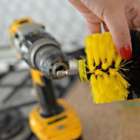 Perie circulara pentru Mocheta & Uz Caznic / Profesional - Detailing Carpet Brush cu Adaptor Bormasina