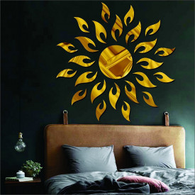 Set Oglinzi Design 3D GOLD SUN MyStyle® - Oglinzi Decorative Acrilice Luxury Home 27 buc/set