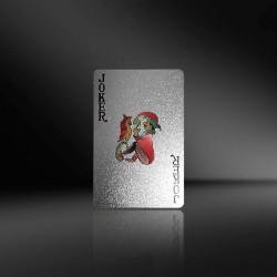 Carti de joc Silver Casino Poker, aspect Euro €