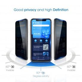 Folie de sticla 5D Apple iPhone X, Privacy Glass, folie securizata duritate 9H
