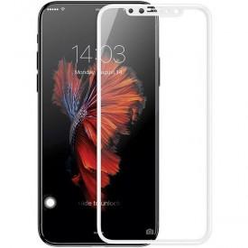 Folie de sticla Apple iPhone XS MAX, 5D FULL GLUE ALB