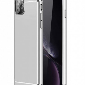 Husa Apple iPhone 11, Elegance Luxury 3in1 Silver