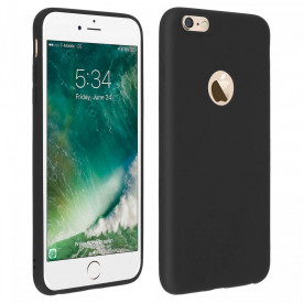 Husa Apple iPhone 6/6S, antisoc cu decupaj logo Black