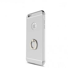 Husa Apple iPhone 6 Plus/6S Plus, Elegance Luxury 3in1 Ring Silver