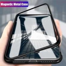 Husa Apple iPhone 6 PLUS Magnetica 360 grade Black, Elegance Luxury cu spate de sticla securizata premium
