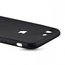 Husa Apple iPhone 7 Plus, Black antisoc cu decupaj logo