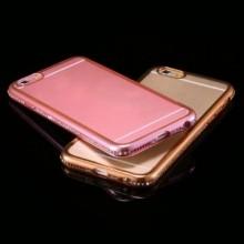 Husa Apple iPhone 7 Plus, Elegance Luxury electroplacata cu diamante Rose-Gold