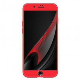 Husa Apple iPhone 8, FullBody Elegance Luxury Red, acoperire completa 360 grade cu folie de sticla gratis