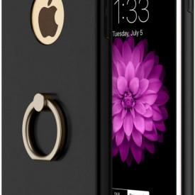 Husa Apple iPhone 8 Plus, Elegance Luxury 3in1 Ring Negru