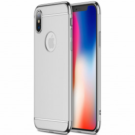 Husa Apple iPhone X, Elegance Luxury 3in1 Argintiu