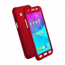 Husa FullBody Elegance Luxury Red pentru Samsung Galaxy J3 2016 acoperire 360 grade cu folie de protectie GRATIS !