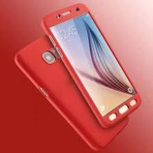 Husa FullBody Elegance Luxury Red pentru Samsung Galaxy S6 acoperire completa 360 grade cu folie de protectie gratis