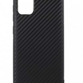 Husa pentru Samsung Galaxy A51, Perfect Fit, cu insertii de carbon, negru
